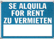 CARTEL SE ALQUILA FOR RENT